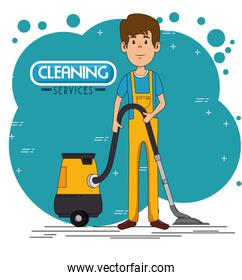 cleaning service staff