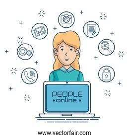 social network connecting people online