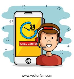 call center support concept