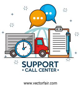 Truck time delivery support service