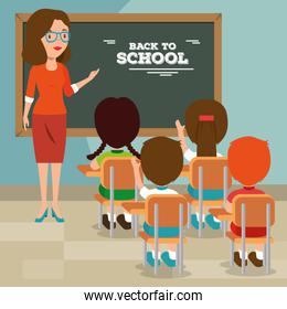 back to school teacher teaching to her students