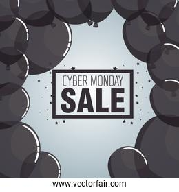 cyber monday sale banner background