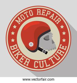 biker culture badge and patch
