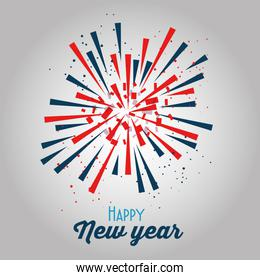 colorful fireworks happy new year background