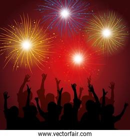 brightly colorful fireworks background