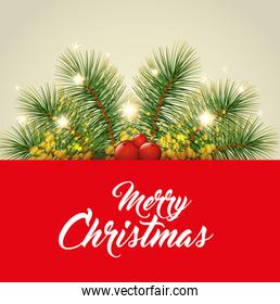 colorful and bright merry christmas background