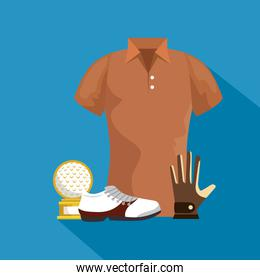 golf colorful clothes design over blue