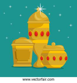 baby jesus gifts from the three magic kings