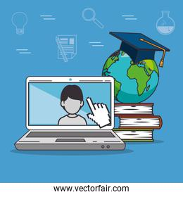 education school university e-learning concept