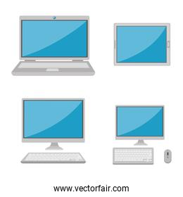 set of computers electronic device