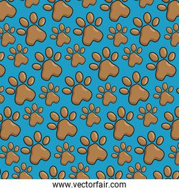 pet paws pattern background