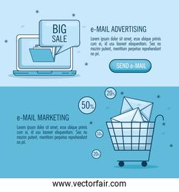 email marketing and email advertising infographic