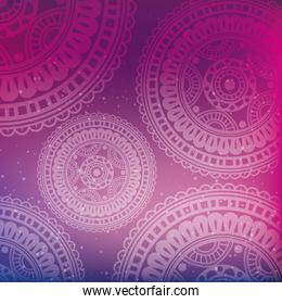 colors mandala decoration background