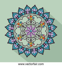 color mandala decorative icon