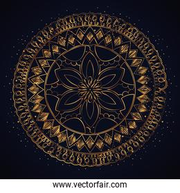 golden mandala decorative icon