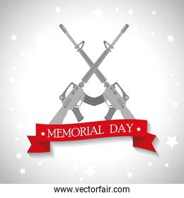 memorial day card with rifle war