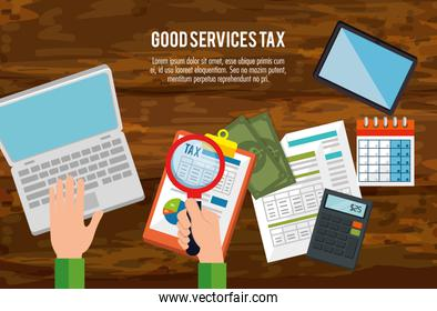 tax day time set icons