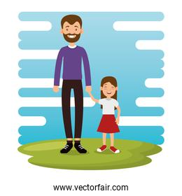 best father with daughter avatars