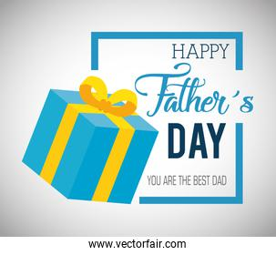 happy fathers day card with gift