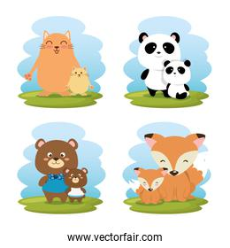 family animals group characters