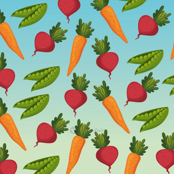 fresh vegetables organic and healthy food pattern background