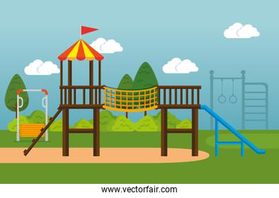 park with kid zone scene