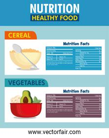 cereal and vegetables nutrition facts