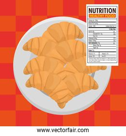 croissant bread with nutrition facts