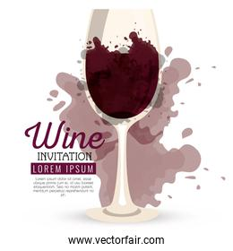 red wine cup label