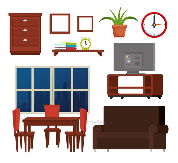 house place set icons