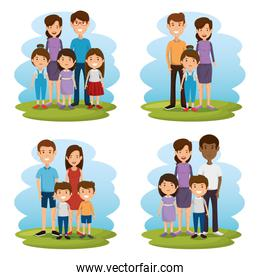group of family members avatars characters