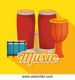 set musical instruments icons
