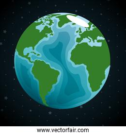 earth planet in the space