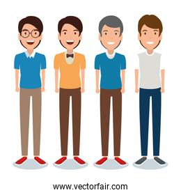 young men avatar character