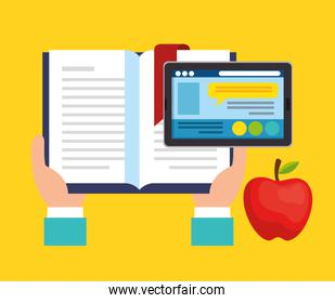 education on line with tablet