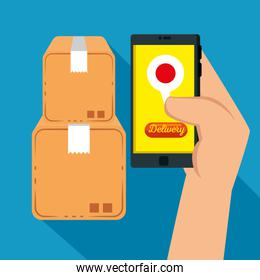 logistic services with smartphone