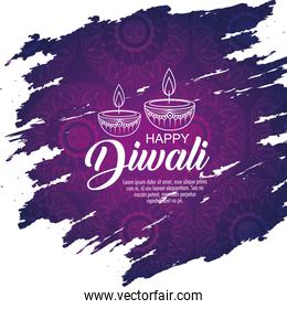 diwali candles decoration to light festival