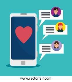 smartphone technology and social chat bubbles