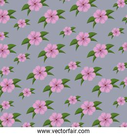 cute floral background with leaves design