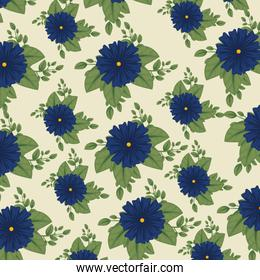 cute floral background with leaves style