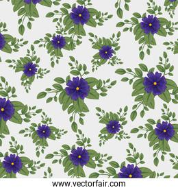 flowers plants with leaves style background