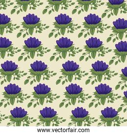 nature floral style with leaves background