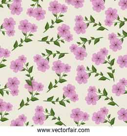 floral plants with natural leaves background