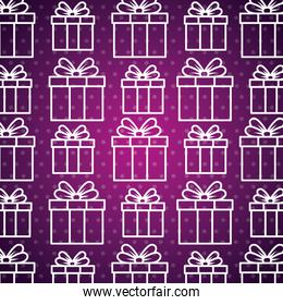 present gift box with ribbon bow background
