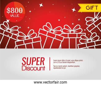 gift coupon discount with special sale