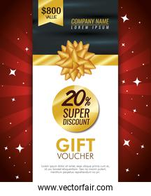 gift coupon card with special sale