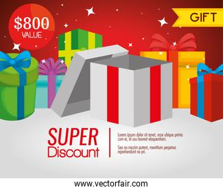 gift voucher presents with special sale