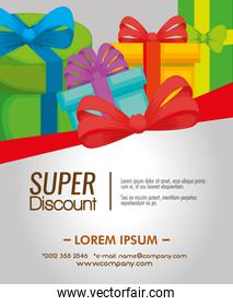 gift voucher with presents to sale discount