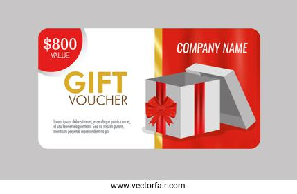 gift voucher with special sale discount