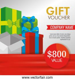 goft voucher with presents and special sale discount